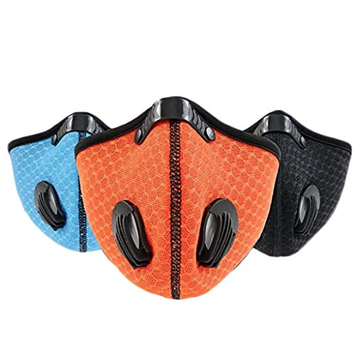HAUXIN Outdoor Anti-dust Half Face Mask Mouth-muffle Windproof for Bicycle Skiing Breathable mesh Bike Bicycle Cycling…