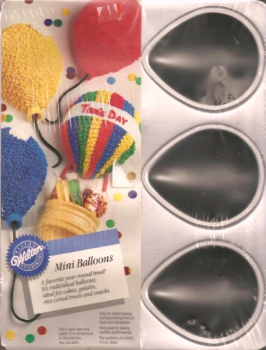 UPC 070896520241, Wilton Cake Pan: Mini Balloons/Cool Critters - Mice, Insects, Turtles, Ladybugs (2105-2024, 1992)