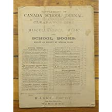 Supplement to Canada School Journal. Containing a Number of Papers set at Recent Examinations