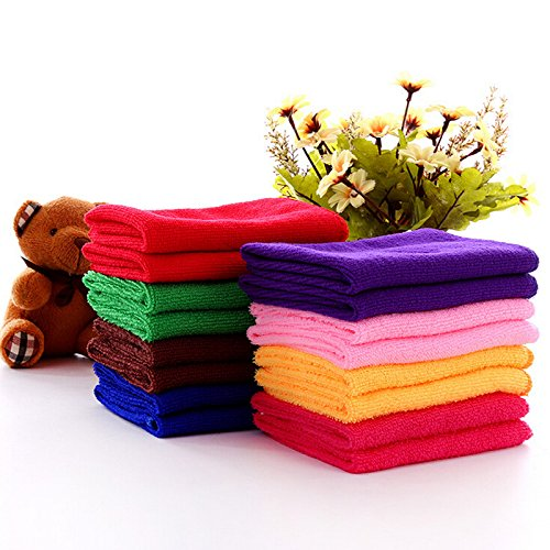 Car Towel - 10 Pcs/Lots 25 * 25 cm Microfiber Rags Kitchen Towels for Cleaning Home Garden Quick-Drying Cleaning Cloth Color Deliver Randomly from Centola