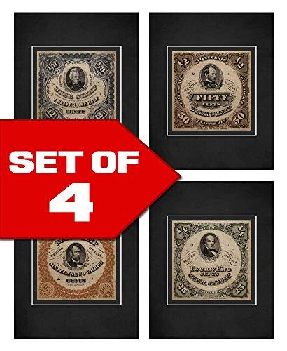 Wallables Beer Stamp Art Prints! Four Stylish 8x10 Mens Wall Decor Art Prints Set Great for Living Room, Bar, Tavern, Pub, Bachelor - Decor Wall Stamp