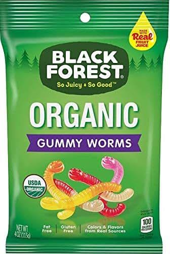 Gummy Candies: Black Forest Organic Gummy Worms