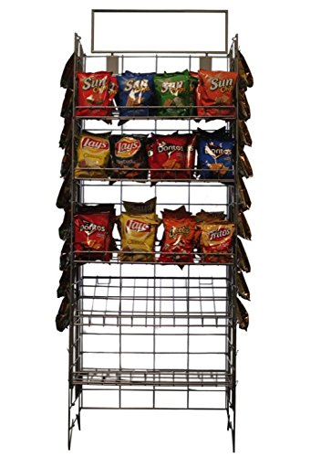 5 SHELF CHIPS OR CANDY DISPLAY RACK,