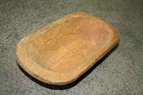 Carved Wooden Dough Bowl Primitive Wood Trencher Tray Rustic Home Decor 19 3//4/""