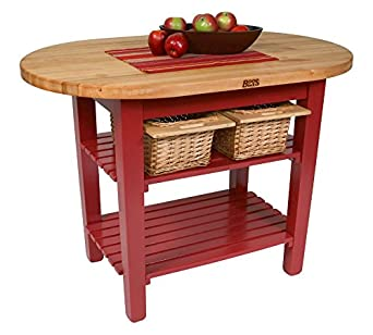 John Boos C-Elip Country-Style Elliptical Butcher Block ...