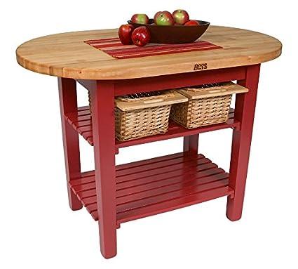 Amazon.com - John Boos Eliptical C-Table Kitchen Island Base ...
