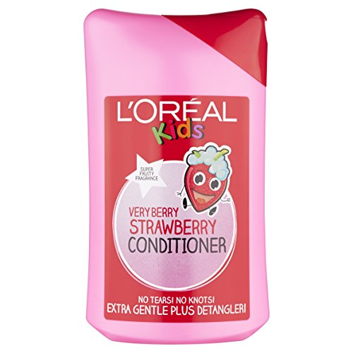 L'Oréal Paris Kids Hair Detangler Conditioner - Very Berry Strawberry (250ml) - Pack of 2 ()