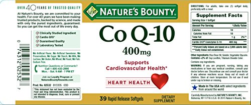 Nature's Bounty Cardio Q10, Co Q-10 400 mg Softgels 39 ea by Nature's Bounty (Image #4)