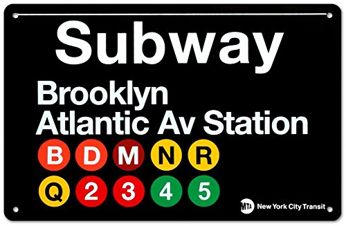 Brooklyn/Atlantic Ave Metal Subway (Subway Sign)