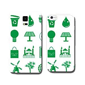 Green ecology icons set cell phone cover case iPhone5
