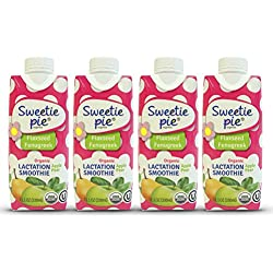 Sweetie Pie Organics Lactation Smoothie, 4 Count