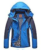 Women's Casual Waterproof Outdoor Jacket-Diamond Candy Hooded lightweight Raincoat Blue,Medium