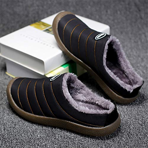 D'hiver Et Azooken D'intérieur Chaud Unisexes Imperméables 48 Femme D'extérieur 45 Noir Chaussons Homme Pour Pantoufles 46 Chaussures 47 pzxztqr