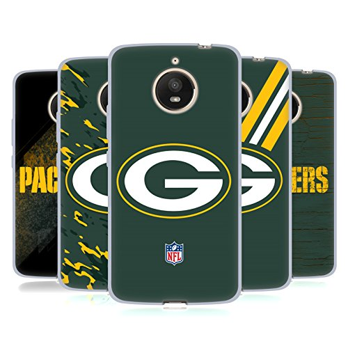 Official NFL Green Bay Packers Logo Soft Gel Case for Motorola Moto E4 Plus