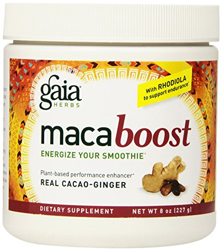 Gaia Herbs Maca Boost Supplement, Cacao-Ginger, 8-Ounce
