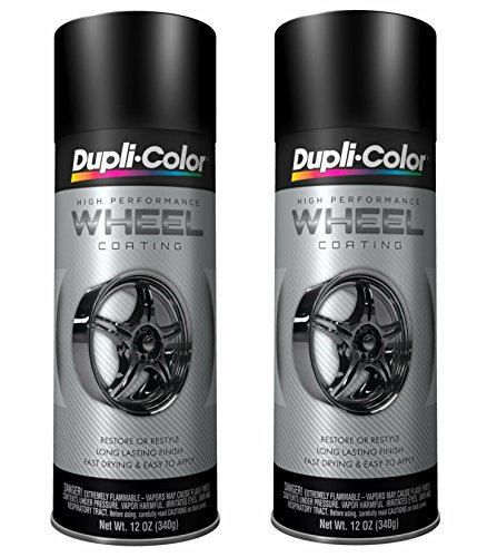 Steel Paint Wheels - Dupli-Color HWP104 Black High Performance Wheel Paint - 12 oz. (2 PACK)