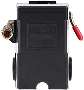 lefoo Quality Air Compressor Pressure Switch Control 95-125 PSI 1 Port w/Unloader LF10-1H-95-125