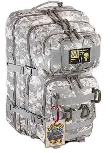 Monkey Mountain Tactical ACU Camo Punisher 40 Liter MIL-STD MOLLE PALS Ready 3-Day Assault Pack & Military Rucksack