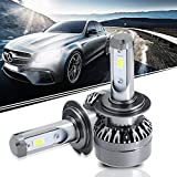 60W LED Headlight Bulbs All-in-One Conversion Kit - H7 6000LM Led Fog Lights