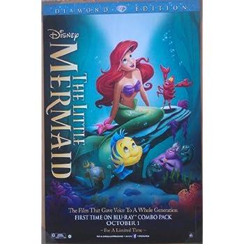 amazon com the little mermaid movie poster 1 sided original 26x40