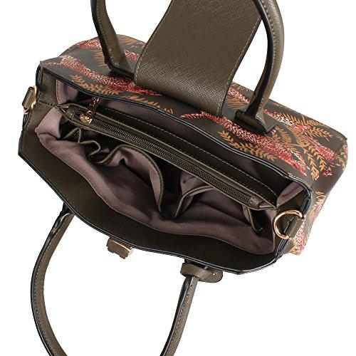 L. CREDI Damen Handtasche Afrika khaki
