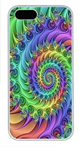 IMARTCASE iPhone 5S Case, Spiral Trippy Colorful Polycarbonate Back Case for Apple iPhone 5s/5 White