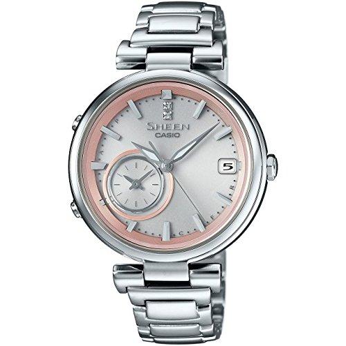 f33bb894a830 Casio Reloj los Mujeres Sheen Solar Bluetooth SHB-100D-4AER  Amazon.es   Relojes