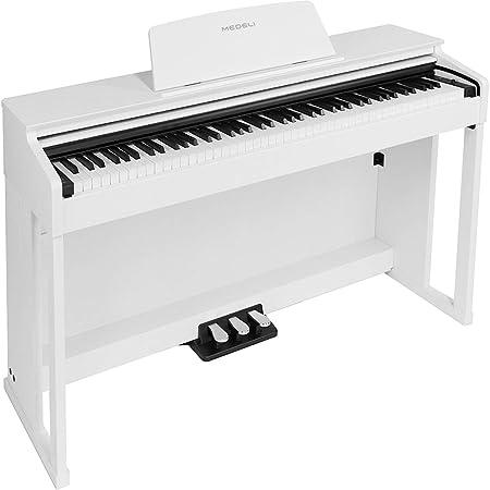 Medeli DP280 - Piano para mueble (88 notas), color blanco ...