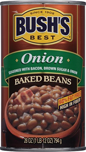 BUSH'S BEST Onion Baked Beans, 28 Ounce Can (Pack of 12)