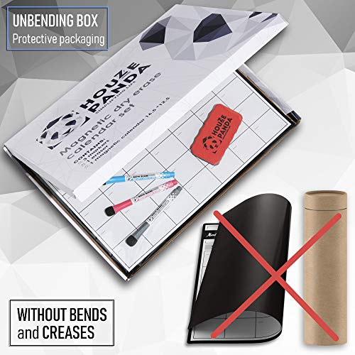 Magnetic Dry Erase Calendar for Refrigerator 2019 - Monthly Planner White Board for Family - 3 Fine Tip Markers & Large Eraser with Magnets - Organizer for Kitchen Fridge - Big Cute Magnet Whiteboard Photo #3