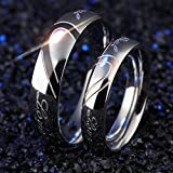 18K Gold Ring Titainium Anniversary Wedding Couple Ring Anillo Pareja Size 5-13