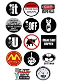 Funny Hard Hat Stickers - BEST SELLER - 14 Decal Value Pack. Great for a Construction Toolbox, Hardhat, Lunchbox, Helmet, Mechanic, Military & More. Fun Gift for Union Working Men & Women. USA Made.