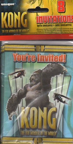 King Kong Invitations 8 ct by Unique Industries (Image #1)