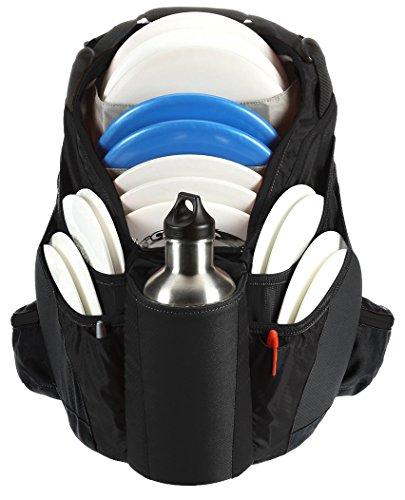 Bag Upper - Upper Park Designs Disc Golf Bag Shift Extra Light Disc Golf Backpack (Black / Black)