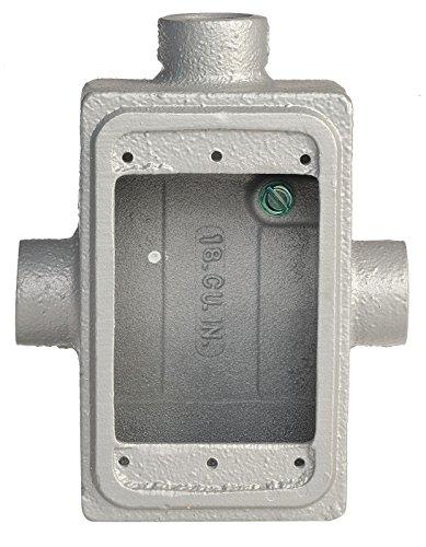 - Appleton FST-1-75 Cast Device Box, FST, 1 Gang, Malleable Iron, 3/4