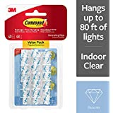Command 17026CLR-VP 07322001011 3M Decorating Clips, Clear, 40