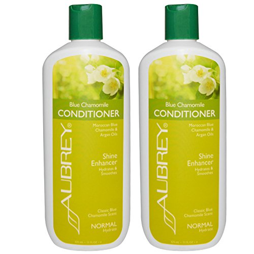 Aubery Organics Blue Chamomile Hydrating Conditioner With Organic Blue Chamomile Oil, Shea Butter, Aloe Vera and Horsetail Extract, 11 fl. oz.(pack of (Aubrey Blue Shampoo)
