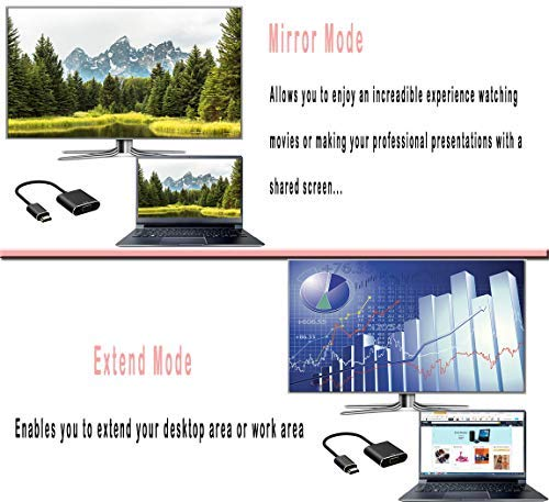 HDMI to VGA Adapter Converter with Micro USB Cable and Audio 1080p Male to Female for Computer Laptop PC Monitor Projector HDTV Roku Xbox PS3 PS4 and More