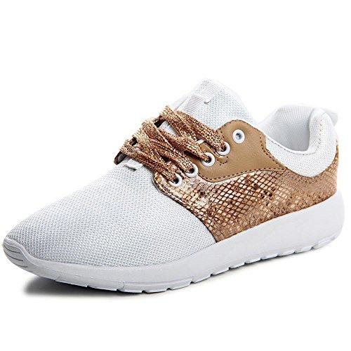 Sneaker topschuhe24 Donna topschuhe24 Bianco Donna Spiaggia q5t8O8