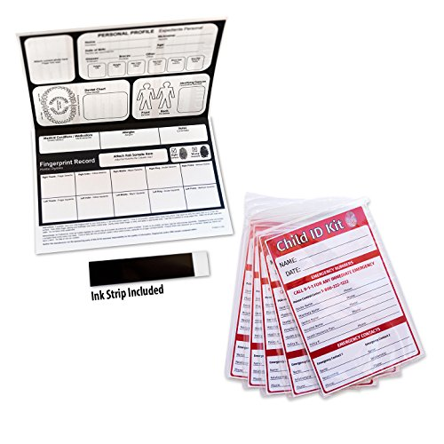 Child ID Fingerprint Kits (5 Pack)