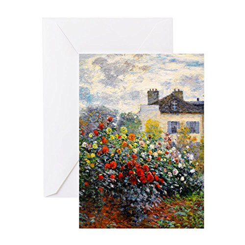 CafePress Monet Argenteuil Greeting Card (10-pack), Note Card with Blank Inside, Birthday Card Glossy ()