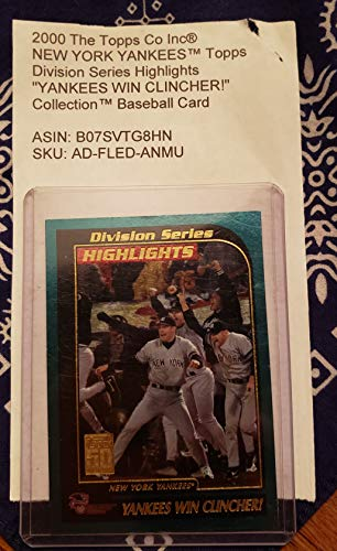 2000 The Topps Co Inc® NEW YORK YANKEESTM Topps Division Series Highlights