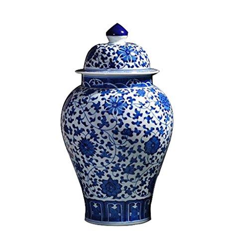Ceramic Vase SUNHAI Blue and White Porcelain Vase Ceramic Decoration Living Room Old Antique Hand-Painted Jingdezhen Home Decorations