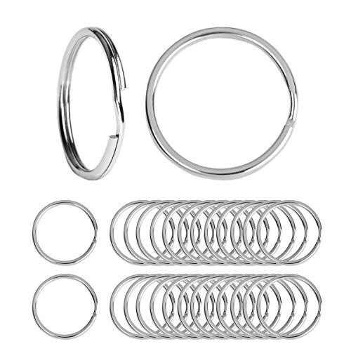 Beadnova Key Chain Ring Metal Split Ring for Dog Tag and Keys Organization (15mm, - Key Split Metal Ring Tag