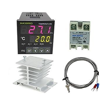 Inkbird Ac 100-240v Itc-100vh Digital PID Thermostat Temperature Controller, DA 25A