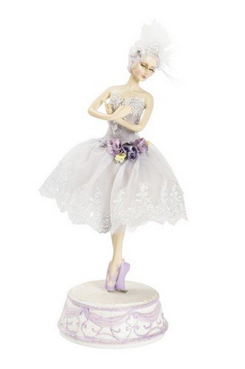 CARILLON BALLERINA DANZA CLASSICA - Ballerina con tutù viola - Altezza 30 cm Way Home Store