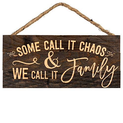 P Graham Dunn Some Call It Chaos We Call It Family 5 X 10 Wood Plank Design Hanging Sign