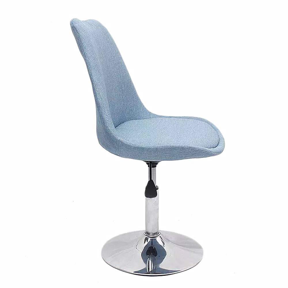 LJHA 回転椅子、あと振れ止めの机の椅子の布の世帯調査の椅子オフィスコンピュータの椅子持ち上がるバーの回転椅子 - 6色 レジャーチェア (Color : D)  D B07SXRCG74