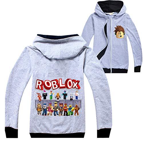 Roblox Jas Jongens Rits Trui Tiener Hoodie Meisjes Lange Mouw T-Shirt Katoen Herfst Sport Tops Running Kleding