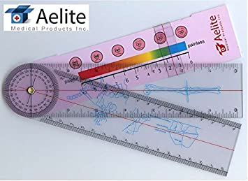 a+elite spinal goniometer spine orthopedics ruler test pain rating scale  in/cm/